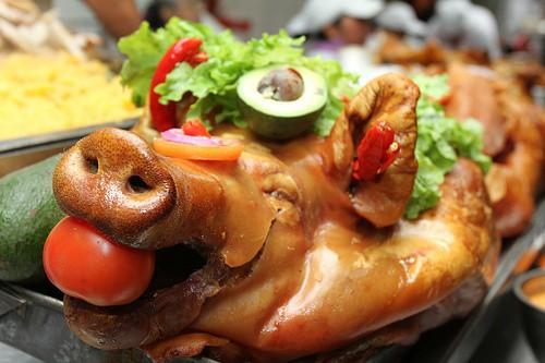 receta de hornado de chancho ecuatoriano, receta hornado, chancho al horno ecuatoriano