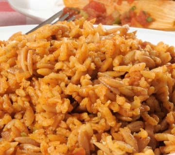receta arroz colorado de ecuador