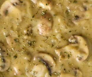 gravy de champiñones ecuatoriano